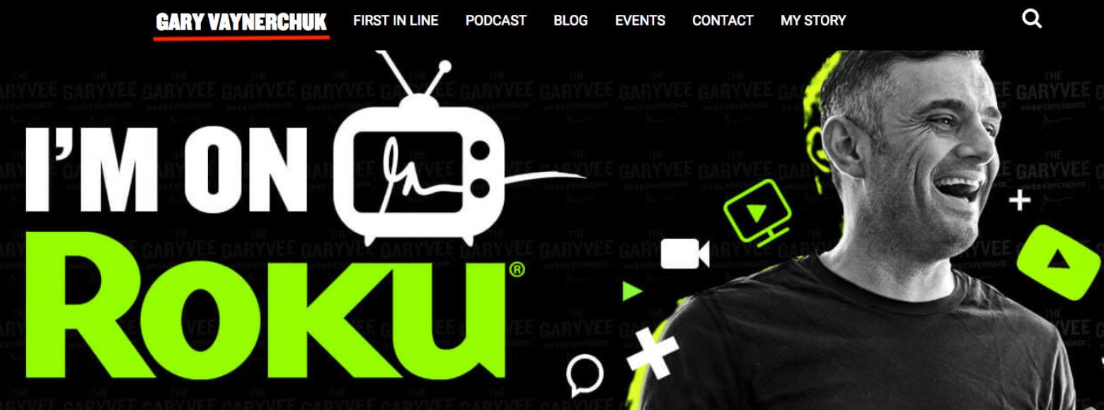 Affiliate Marketer Gary Vaynerchuk Is On Roku TV